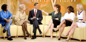 The women of The View with Barack Obama